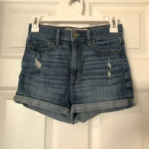 Hollister High Waisted Jean Shorts Size 0